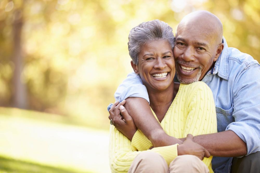 Older couple hugging | Dentist Gretna LA