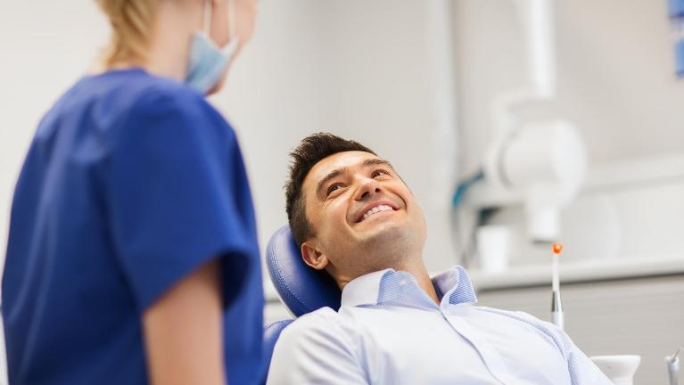 Man at Dentist | Gretna LA Dentist