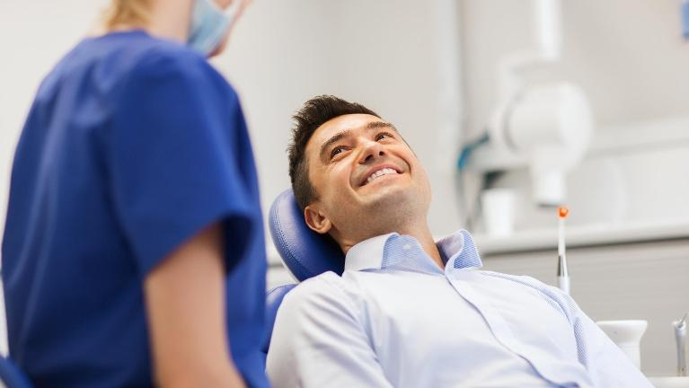 Man at Dentist | Sedation Dentistry New Orleans