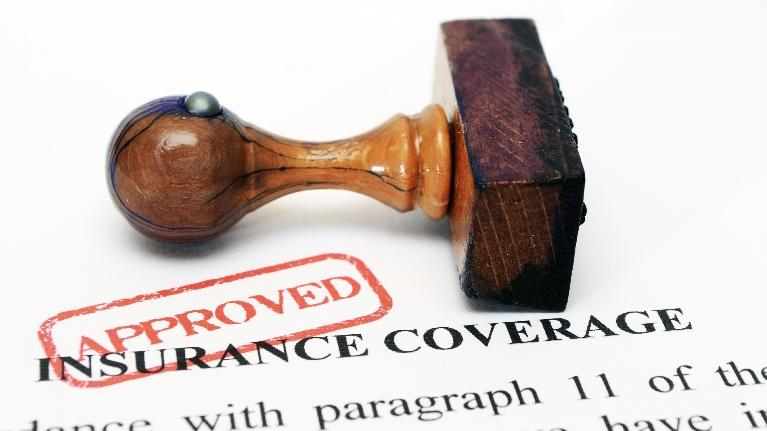 Dental Insurance paper with Approved stamp