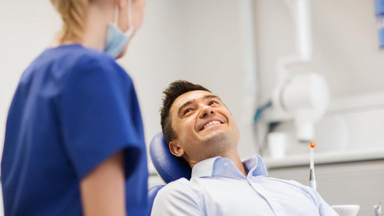 man at dentist | dental cleaning gretna la